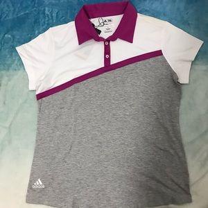 Adidas Golf Climalite Ladies Polo Shirt Size L